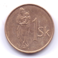 SLOVAKIA 1994: 1 Koruna, KM 12 - Slowakei