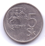 SLOVAKIA 1993: 5 Korun, KM 14 - Eslovaquia