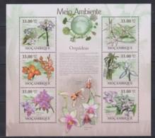 V765. Mozambique - MNH - 2010 - Nature - Plants - Flowers - Orchids - Pflanzen Und Botanik