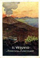 IL VESUVIO CON LA FERROVIA E LA FUNICOLARE. Italia Italie Italien - Napoli (Naples)