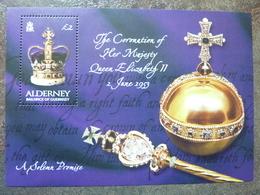 The Coronation Of Her Majesty Queen Elisabeth II 2 June 1953  ** MNH - Alderney