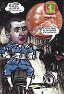 CPM Timbre Monnaie Tirage Limité 30 Ex Numérotés Non Circulé Corse Corsica Paoli Colonna - Stamps (pictures)