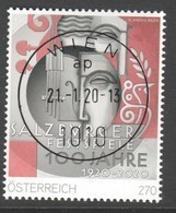 """Österreich 2020: """"100 Jahre Salzburger Festspiele"""" Gestempelt (s. Foto/ Scan) - 2011-... Gebraucht"""