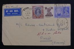 INDE - Affranchissement Plaisant Sur Enveloppe Commerciale De Madras Pour Paris En 1946 Par Avion - L 60648 - 1936-47  George VI