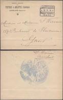 """Guerre 14-18 - Pli En Franchise + Grand Encadré """"Etappen - Inspektion Gent"""" (Auvelais) > Gand. Verso !! - Guerre 14-18"""