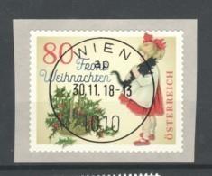 """Österreich 2018: """"Weihnachten - Modern"""" Gestempelt (siehe Foto/Scan) - 2011-... Gebraucht"""
