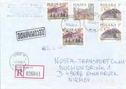 POLEN / POLAND  -  LODZ  -  2002  ,  Polnische Gutshöfe     -   R - Brief Nach Osnabrück - 1944-.... République