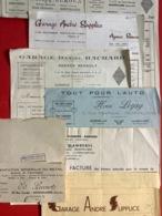 Ensemble De 8 Factures  Commerces à En-tête De MONTIVILLIERS (76).  Vers 1950    Bon état Général - 1950 - ...