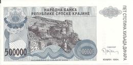 CROATIE 500000 DINARA 1993 UNC P R32 - Croacia
