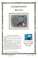 17,265 Bel CEF PTT Soie 265 7 2105    Industrie Diamantaire CS - Carte Souvenir FDC Feuillet Spécial 1983-10-22 Diamant - Erinnerungskarten