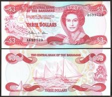 Bahamas - 3 Dollars 1984 UNC P. 44a Lemberg-Zp - Bahamas