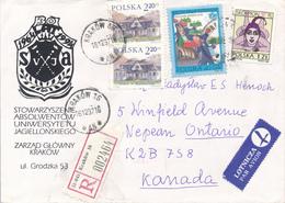 POLEN / POLAND  -  KRAKOW  -  1997 -  Sternzeichen , Polnischer Gutshof , Kinderlied -  R-Brief Nach Ontario / Kanada - 1944-.... République