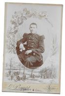 143 REGIMENT D INFANTERIE - PHOTO CDV  MILITAIRE PROMPT ET GENET ALBI TARN - Guerre, Militaire