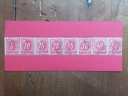SVIZZERA - Segnatasse 1938 - Nn. 67B/74B - Carta Goffrata - Timbrati + Spese Postali - Strafportzegels