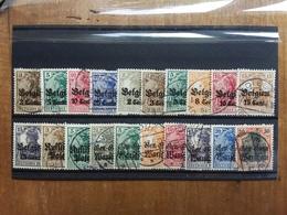 GERMANIA - OCCUPAZIONI 1914/18 - BELGIO-POLONIA - 20 Francobolli Differenti + Spese Postali - Bezetting 1914-18
