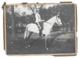 LIEUTENANT MAURICE MONOD 1 REGIMENT DE CHASSEURS D AFRIQUE CAMPAGNE D ALGERIE - PHOTO MILITAIRE - Guerre, Militaire