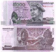 Cambodia - 5000 Riels 2015 2017 UNC Lemberg-Zp - Kambodscha