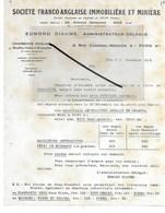 75 - Paris - PARIS-9e - Facture Sté FRANCO-ANGLAISE IMMOBILIERE ET MINIERE - Charbons, Houilles, Cokes - 1932 - REF 277 - France