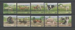 New Zealand 1995 Farm Animals Y.T. 1385/1394 (0) - Oblitérés