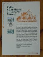 Document Officiel FDC 15-523 église Saint-Martial De Lestards 19 Corrèze 2015 - FDC
