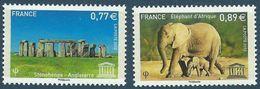"FR Service YT 154 & 155 "" UNESCO "" 2012 Neuf** - Service"