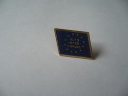 PIN'S PINS AUTO INTER EUROPE THÈME DRAPEAU EUROPÉEN - Badges