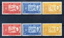 1959 VENEZUELA SET MNH ** 594/596+680/682 - Venezuela