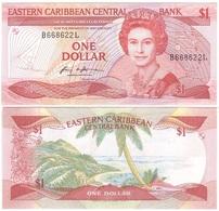 Eastern Caribbean St. / L - 1 Dollar 1985 Pick 17l XF Lemberg-Zp - Oostelijke Caraïben