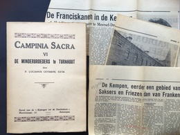 Lucianus Ceyssens - De Minderbroeders Te TURNHOUT + Krantenknipsels - Necrologium - CAMPINIA SACRA VI - 1937 - History