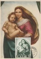 Carte Maximum - La Madonna Di San Sisto De Raffaello Sanzio - Allemagne