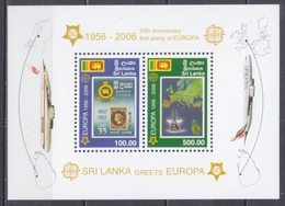 2006Sri Lanka1525-26/B10250 Years Of The European Union 15,00 € - Europa-CEPT