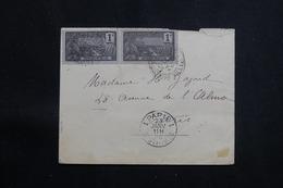 GUADELOUPE - Enveloppe De Pointe à Pitre Pour Paris En 1908, Affranchissement Recto / Verso - L 60682 - Lettres & Documents