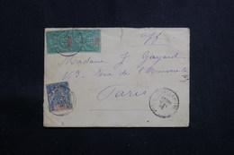 GUADELOUPE - Enveloppe De Pointe à Pitre Pour Paris En 1896, Affranchissement Groupe 5ct X 2 + 15ct - L 60683 - Lettres & Documents