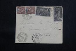 GUADELOUPE - Enveloppe De Pointe à Pitre Pour Paris En 1907, Affranchissement Plaisant Et Varié - L 60684 - Lettres & Documents