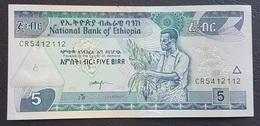 FD0513 - Ethiopia 5 Birr Banknote 2015 UNC - Ethiopie