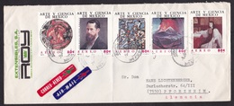 Mexico: Airmail Cover To Germany, 1971, 5 Stamps, Art, Science, Painting, Portrait, Volcano, 2x Air Label (minor Damage) - Messico