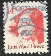 1987 14 Cents Julia Ward Howe Used - United States