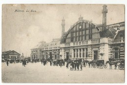 Mechelen La Gare Oude Postkaart Geanimeerd Malines Carte Postale Ancienne - Malines