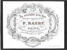 Gent  *  (Carte Porcelaine)  P. Baert , Rue Des Champs, 65 (Magasin De Draps & Nouveautés Pour Pantalons) - Porzellan