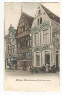 Mechelen Malines Vieilles Maisons Quai Aux Avoines Oude Postkaart Geanimeerd Carte Postale Ancienne - Malines