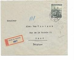 LE 0826. N° Yv. 318 PRAHA 86 VELETRHY S/Lettre RECOMMANDEE + CENSURE V. Gand - Briefe U. Dokumente