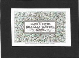Gent  *  (Carte Porcelaine)  Charles Wattel  (Laine & Coton) - Porzellan