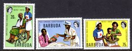 BARBUDA - 1970 BRITISH RED CROSS ANNIVERSARY SET (3V) FINE MNH ** SG 88-90 - Barbuda (...-1981)