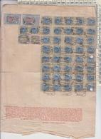 FISCALI SERIE MARCHE DA BOLLO RETRO FATTURA 1925 - 1900-44 Vittorio Emanuele III
