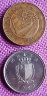 MALTA : 1 CENT 1978 KM 78 + 2 CENTS 1991 KM 93.UNC - Malta