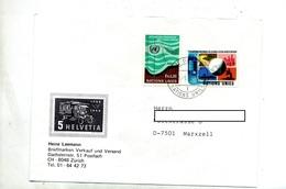 Lettre Cachet Geneve Sur Fond Marin Espace - Ginebra - Oficina De Las Naciones Unidas