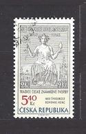Czech Republic 2002 ⊙ Mi 312 Sc 3163 Max Svabinsky's Stamp From 1938, B. Heinz. Tschechische Republik. C10 - Czech Republic