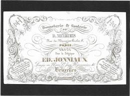 Bruxelles *  (Carte Porcelaine)  Ed. Jonniaux, Longue Rue Neuve (Bonneterie & Ganterie) Meyrueis, Paris - Porzellan
