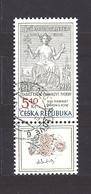 Czech Republic 2002 ⊙ Mi 312 Zf Sc 3163 Max Svabinsky's Stamp From 1938, B. Heinz. Tschechische Republik. C1 - Czech Republic
