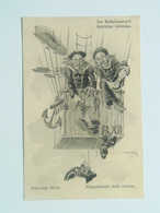 Dworak 35 Pola Pula Marine Humor K.U.K. KuK Kriegsmarine Caricature Karikatur 1917.C.F.P. Fano Zeppelin Baloon Nr 46a - Guerre